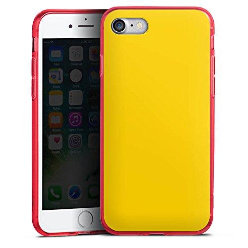 Apple iPhone 8 Silikon Hülle Case Schutzhülle Gelb Sonnengelb Frühling Silikon Colour Case rot