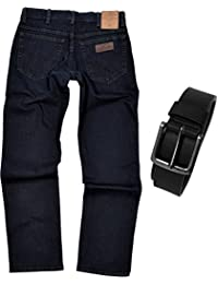 Wrangler TEXAS STRETCH Herren Jeans Regular Fit inkl. Gürtel