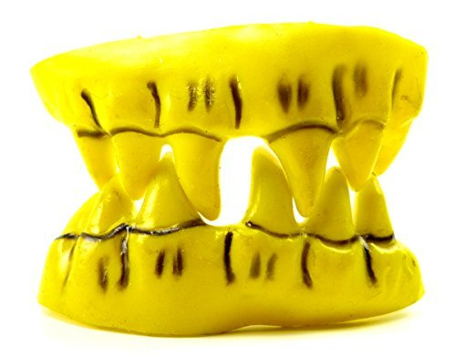 Gebiss 1957 Halloween Monster Gebisse Fasching Grusel Gebiss Karneval Zaehne (yellow Horror)
