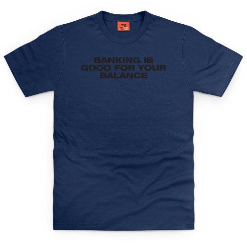 Square Mile Balance T-Shirt, Herren Dunkelblau