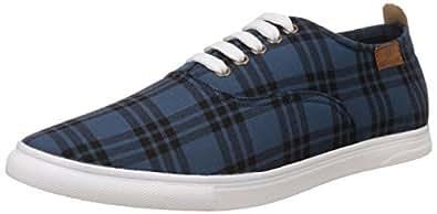 Franco Leone Men's Blue Sneakers - 6 UK/India (40 EU)