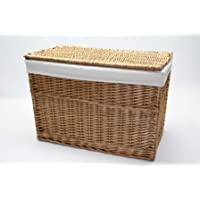 Buff Willow Wicker Storage Chest/Trunk - lined (M)