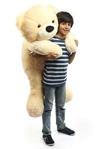 """Cozy Cuddles 47"""" Irresistibly Cute & Extra Soft, Vanilla Cream, Big Plush Teddy Bear, By Giant Teddy"""
