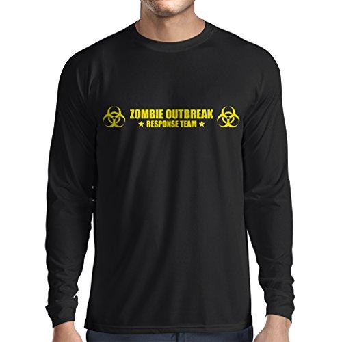 N4519L T-Shirt mit Langen Ärmeln Zombie Outbreak Response Team (XX-Large Schwarz Gelb)