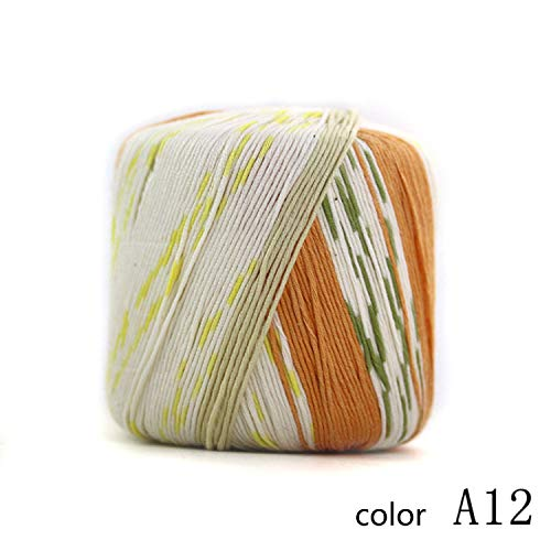 XY-Scarf Thermo Garn Stricken 1 Ball 40 g 1/2,8 NM 10 Ball Set 12 Farbe wählbar Gemütlich (Color : A12, UnitCount : 10 Balls) -