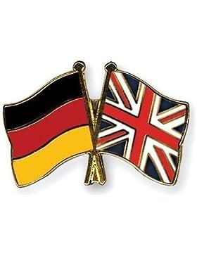 Deutschland & Großbritannien Flagge Freundschaftsband vergoldet Emaille Pin-Anstecker