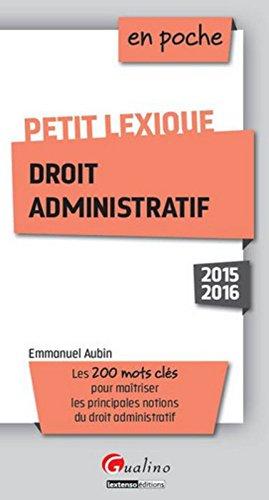 Petit lexique de droit administratif