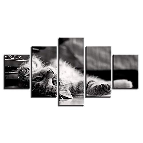 Tier Katze dekorative Malerei 5 Stücke von Inkjet-Künstler lebenden Handwerk Malerei-8 x 14/18/22inch,Without frame -