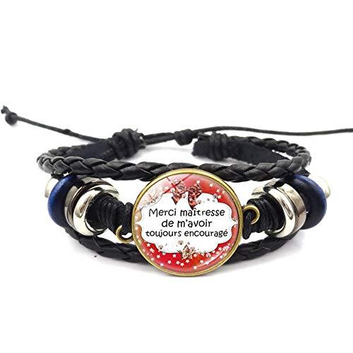 Männer Armbänder Armband Bettelarmband,Lehrer Geschenk Zeit Gem Roten Bogen Muster Armband Europa Und Amerika Hand-Woven Armband Armband Schmuck Für EIN Geschenk Zum Hochzeitstag Woven Bogen