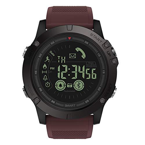 ZTGL Smart Watch Intelligente Aktivitäts Uhr Musiksteuerung Pulsmesser Schlafmonitorfitness Tracker Blutdruckmessung Schrittzähler Farbbildschirm Mit IP68 Wasserdicht Für Android Ios,Braun
