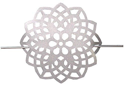 Home Fashion 070/305–1707alzapaños de Metal–Flores, Plata, 18x 2cm
