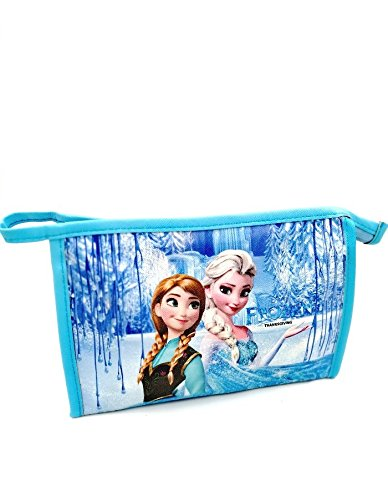 Beautiful Frozen Theme Multiutility Pouch for Birthday Return Gifts | Stationery|Makeup|Toiletries|Blue Color