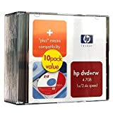 DVD+R 4.7GB DVD Rewriteable Discs ( 10-Pack : Jewel Cases )