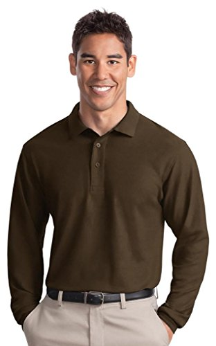 Port Authority Herren Groß und hoch Pique Polo Shirt Coffee Bean