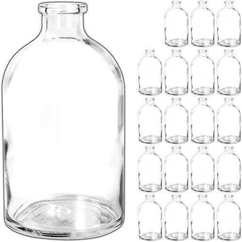 e Glasfläschchen kleine Flasche Tischvasen Glasflaschen Dekoflaschen Väschen Vasen Glasvasen ()