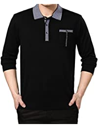 Amurleopard Casual Sweat-shirt homme col polo