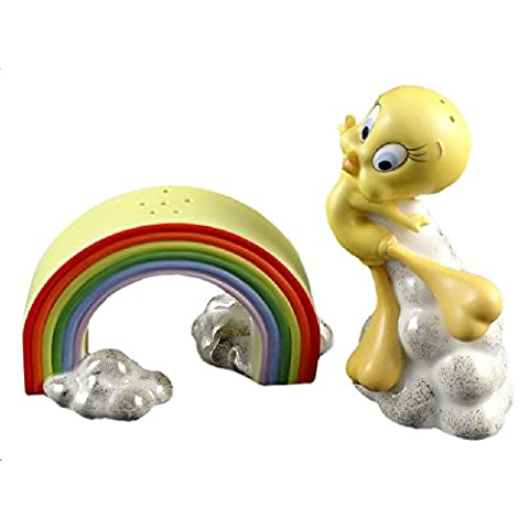 Tweety Bird Rainbow Collectible & Salt Pepper Shaker 9,52 (3,75 cm di altezza