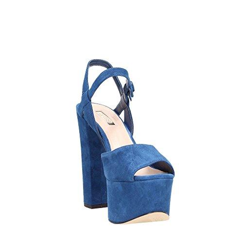 Guess , Sandales pour femme Bleu Bleu Bleu