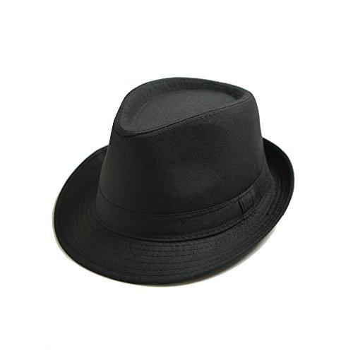 JEDAGX Männer Frauen Unisex Leichte Baumwolle Trilby Hut mit Schwarzem Band, Alle Jahreszeiten Sun Jazz, 58cm