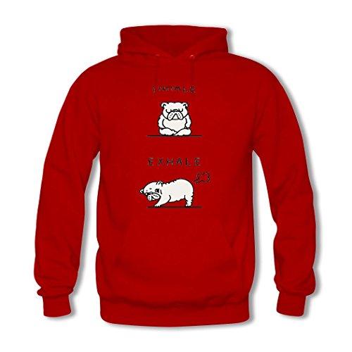 HGLee Printed DIY Custom English Bulldog Women's Hoodie Hooded Sweatshirt Red--2