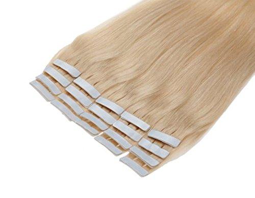Remeehi Haarverlängerung, 26 Zoll (66 cm), 613 light blonde, Stück: 1 (Zoll 26 Extensions Tape In Hair)