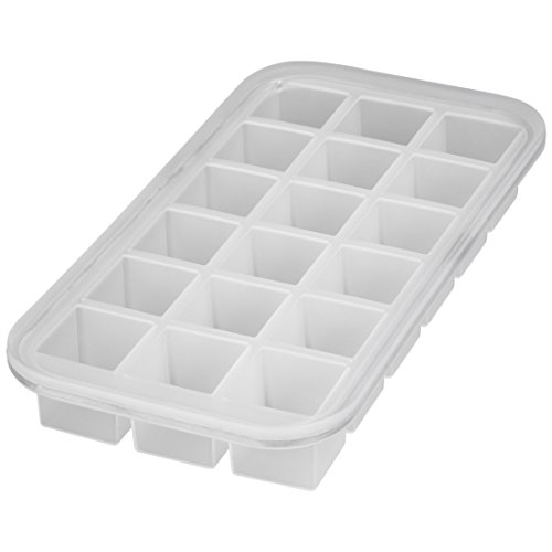 Levivo, Molde silicona 18 cubitos hielo, Blanco, 27.8