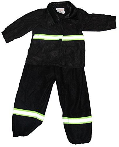 Foxxeo 40236 I Baby Kostüm Feuerwehrkostüm Feuerwehrmann schwarz Gr. 74 - 98, Größe:68/74