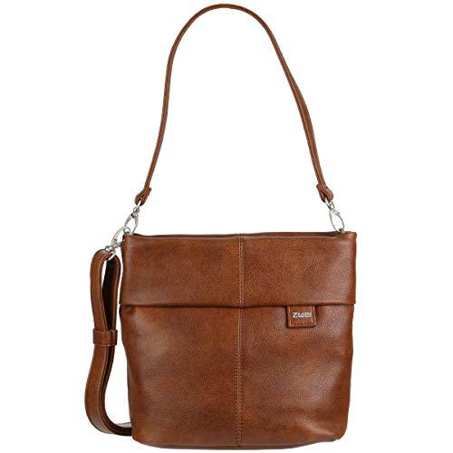 Zwei Tasche Handtasche Damen MADEMOISELLE M8 Kunstleder, Farbe:Cognac
