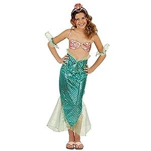 WIDMANN Disfraz 55418Niños Sirena, 158