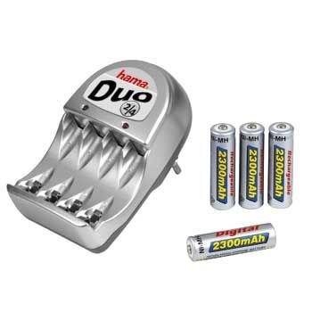 'Hama steckerladegerät Duo 2/4Set con 4AA (Mignon HR 6) Digital Batterie (2300mAh) 4Pack