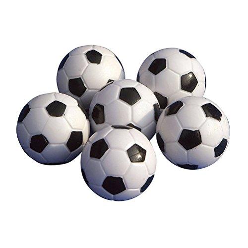 LUOEM 6 Stück Tischfußball Kickerbälle Schwarz Weiß -