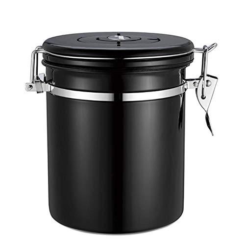 Womdee Edelstahl-Kaffeedose – Kaffeebohnen-Container mit Vakuumversiegelung, Einweg-CO2-Freigabe,...