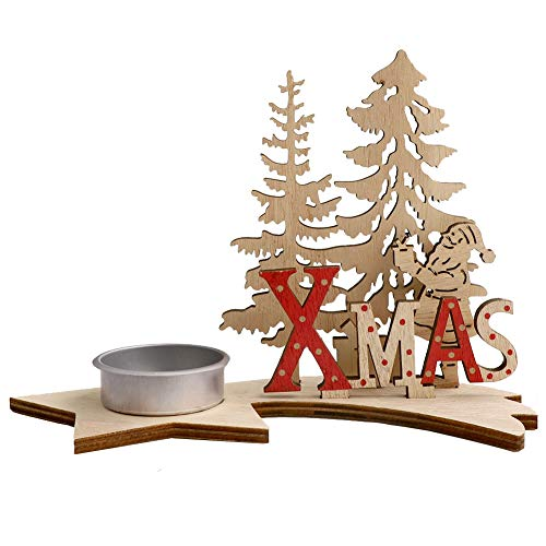 Tea Light Candle Holder Navidad Candelabro DIY Adornos de Navidad Candelabro de...