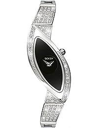 Seksy Eternal Flame by Sekonda Black Dial Ladies Bracelet Watch 4226