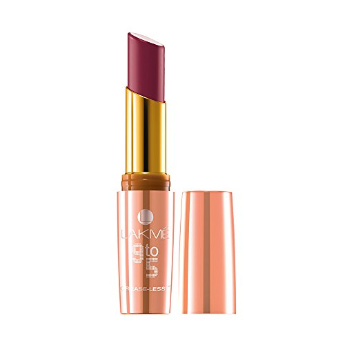 Lakme 9 To 5 Creaseless Creme Lip Color, CR4 Carmine Kick, 3.6 g