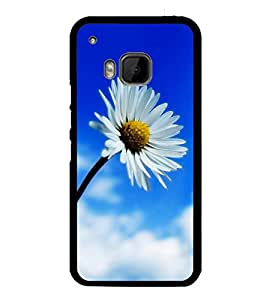 White Flower 2D Hard Polycarbonate Designer Back Case Cover for HTC One M9 :: HTC One M9S :: HTC M9 :: HTC One Hima