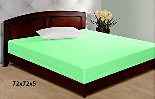 LatestHomeStore Waterproof Double Bed Mattress Cover wth Elastic Strap (BABYCARE)+ Safty (72 x 72 x 5) SIZE