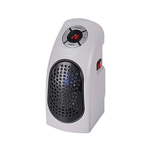 CAMRY CR 7715 - Calefactor silencioso con dos niveles LED, 700 W, radiador cerámico, calefacción...