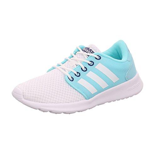 newest collection 68baa c84d3 adidas Damen Cloudfoam QT Racer W Sneaker Low Hals, Elfenbein  (FtwblaFtwbla