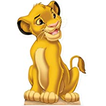 Simba Rey León 95cm tamaño natural del soporte de tamaño natural