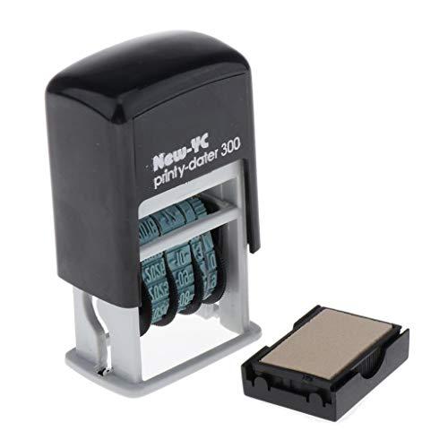 kesoto Timbro Stazionario con Datario Autoinchiostrante H-4mm per Data di Spedizione