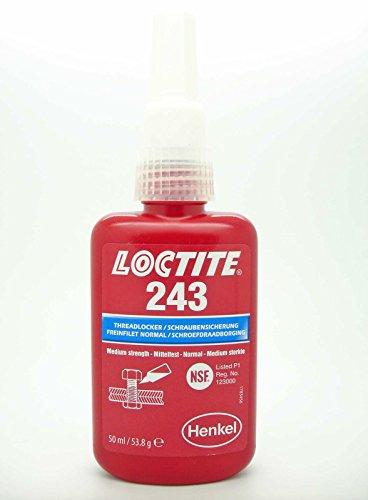 Preisvergleich Produktbild Loctite 243 x 50ml Medium starker, Öl toleranter Schraubenkleber