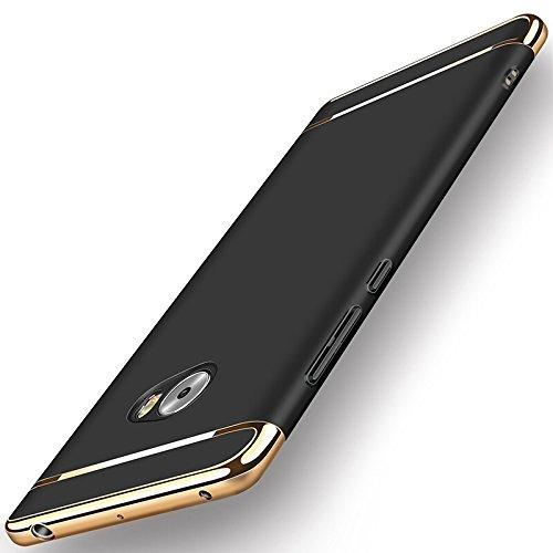 Xiaomi Mi Note 2 Funda + Anillo inteligente Sostenedor Soporte, 3 en 1 híbrido Carcasa Antideslizante, Caso Protectora Completa Ultra Delgado y Ligero, Slim Fit Anti-Choque Bumper Case Cover - Negro