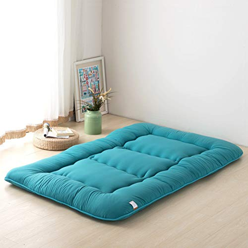 paner Futonbett Matratze Tatami, 100% Baumwolle Premiumhotel Qualität Folding Memory-Schaum Roll-up Yoga-Matte-f 180x220x10cm ()