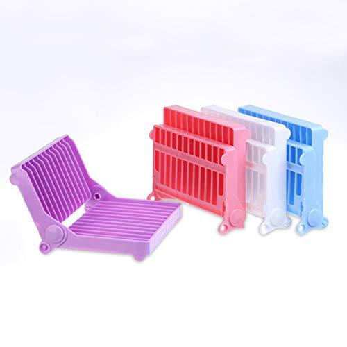 Abtropfgestell Schale Klappbar PP Kunststoff Geschirr Tasse Isolierung Pfanne Rack Wäscheständer,Pink,3pack Sonoma Pfanne