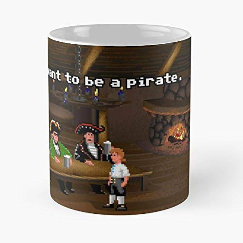 Monkey Island Guybrush Threepwood - Best Gift Ceramic Coffee Mugs -