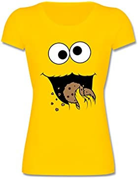 Shirtracer Karneval & Fasching Kinder - Keks-Monster - Mädchen T-Shirt