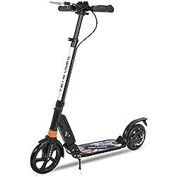 besrey Patinetes, Patinete Plegable Scooter Monopatín Ajustable para Adulto niño, City Scooter Muy Duradera Divertido Juguete Deporte