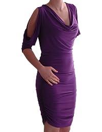 EyeCatch - Vanessa Stretch Damen Mini Kleid mit Ausschnitt Schultern