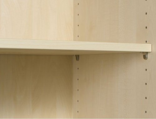 Büroschrank aus holz  ▷ Querrollladenschrank - Büroschrank aus Holz Silber/Buche